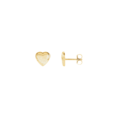 Tiny Heart of Gold Earrings