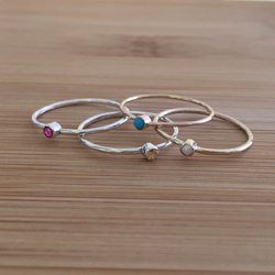 Birthstone stacking ring