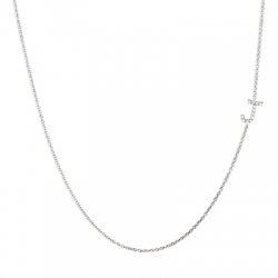 Pave Diamond Letter Necklace
