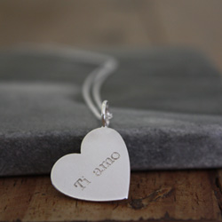name heart necklace