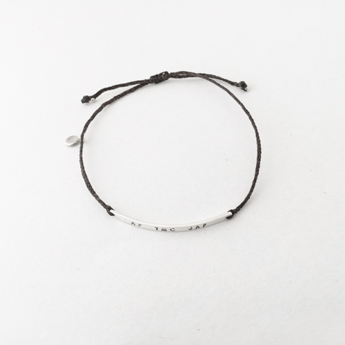 id on thread bracelet
