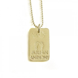 The Birth Necklace Rectangle 18k