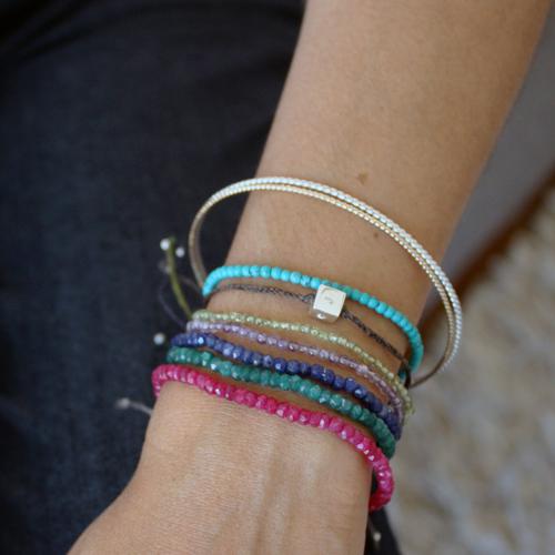 Back To Bracelets Ruby Bead Bracelet
