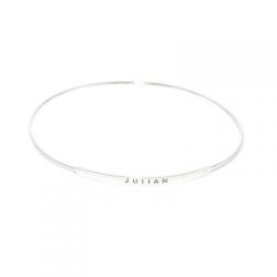 tiny nameplate bangle