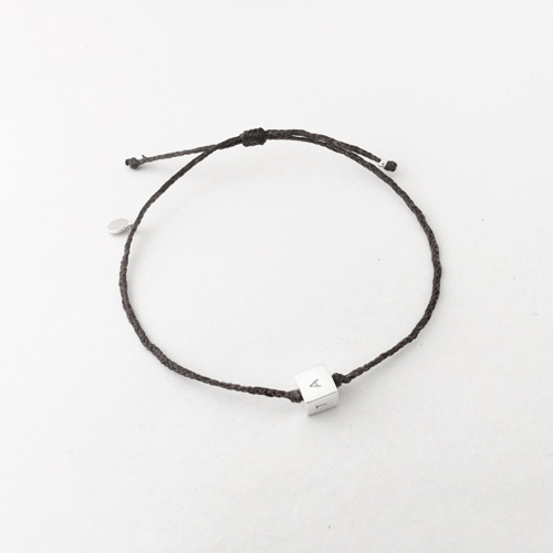 square bead on thread bracelet