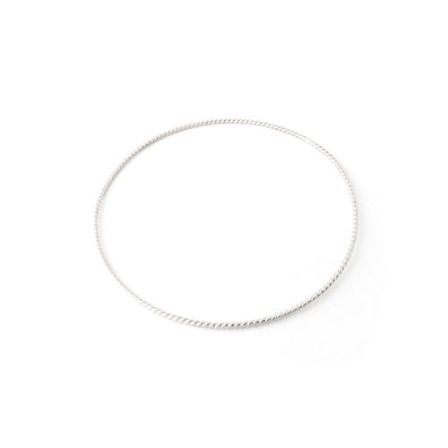 sterling rope bangle